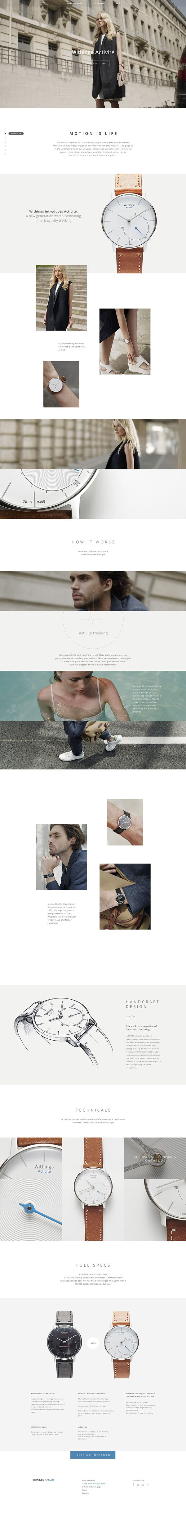 Withings Activité Website