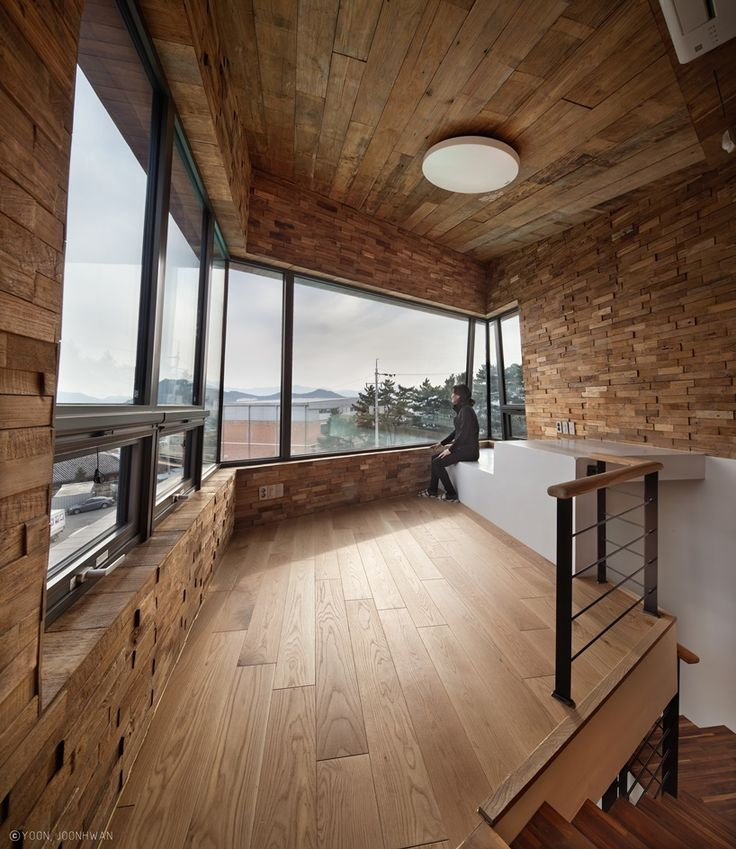 korean practice ON architecture has completed the tower house project in gimhae, south korea, like an X-shaped observation tower with living units.