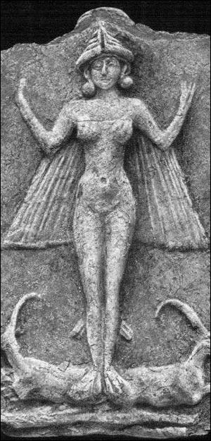 Mesopotamia - Nude winged goddess