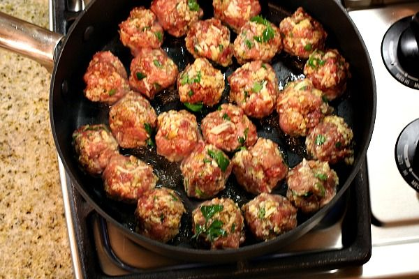 homemade meatballs from the pioneer woman. i swear this is my exact recipe!!!  ok i  lied, i use veal too and italian seasoned bread crumbs.