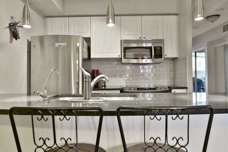 Stylish kitchen area and breakfast bar!