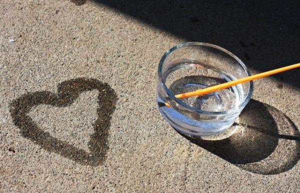 peinture ephemere avec de l'eau