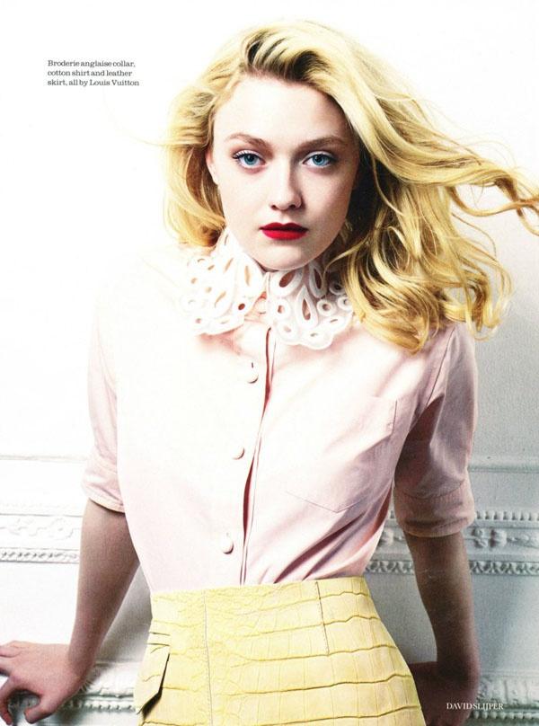 Дакота Фаннинг (Dakota Fanning) снялась для февральского Elle UK. Фотографировал юную актрису Дэвид Слийпер (David Slijper).