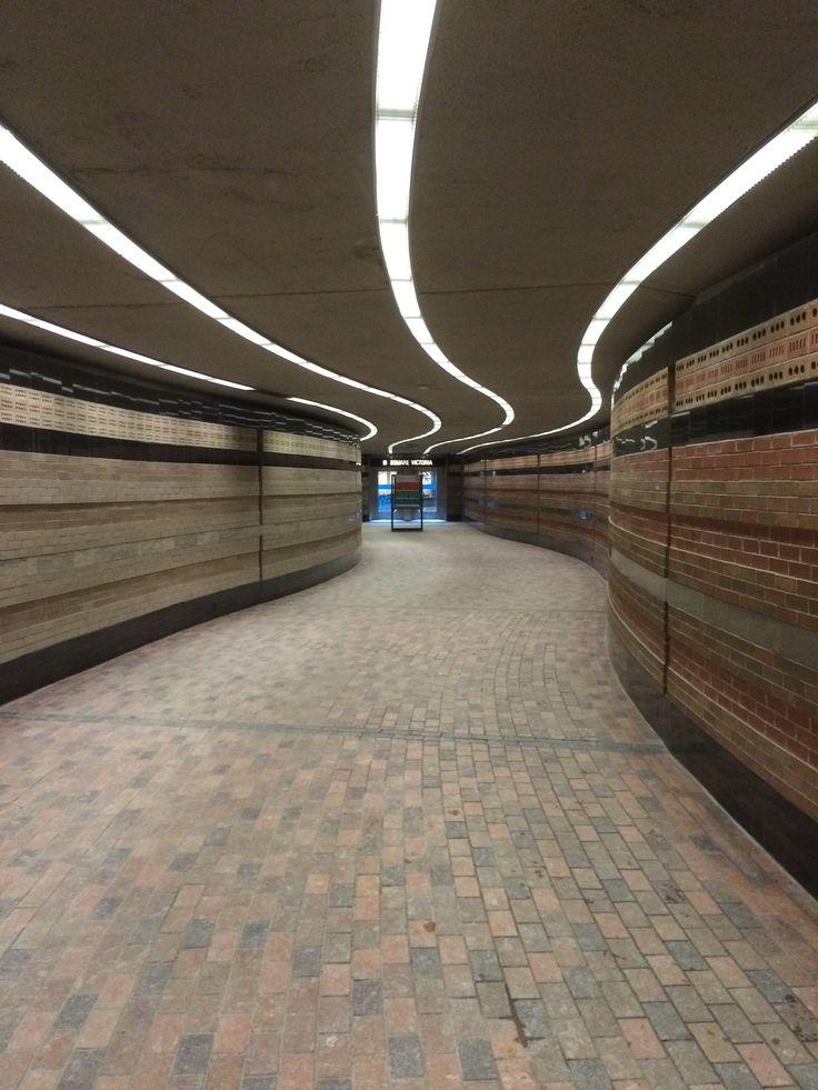 Underground connection between the Centre de Commerce Mondial de Montréal [World Trade Centre Montréal] and Square-Victoria-OACI Montréal Metro station. #montreal #quebec #canada #travel #metro #stm