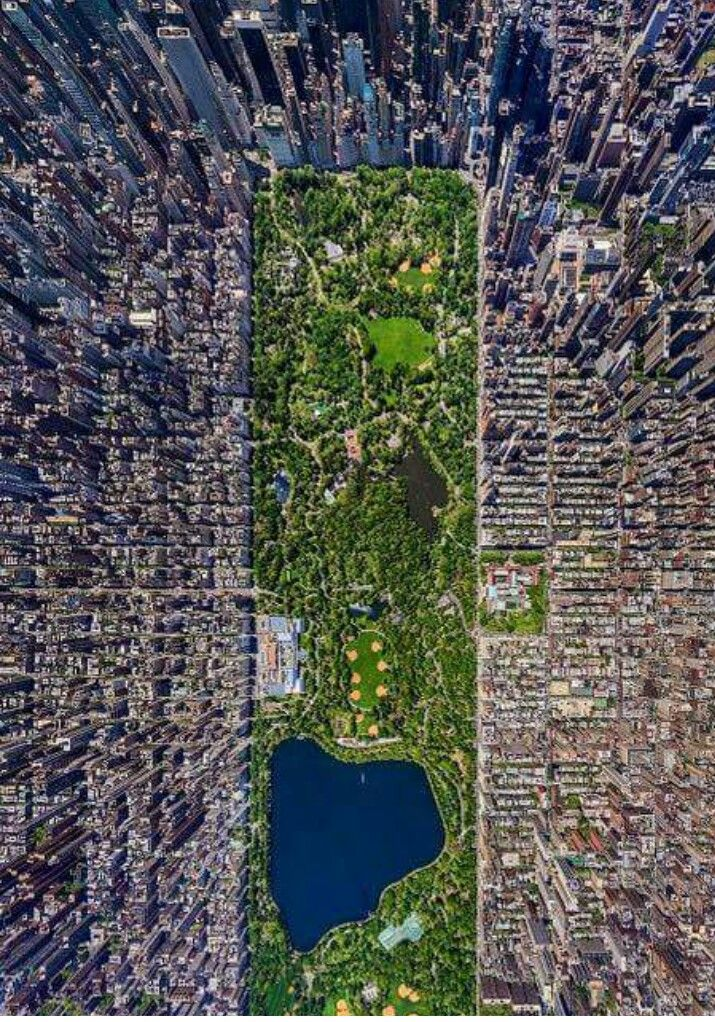 Central park - New York from above