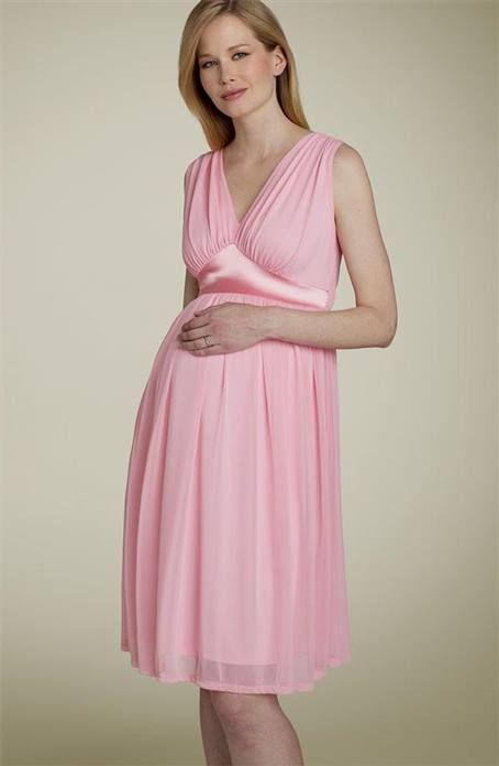 Awesome light pink maternity dress 2018-2019