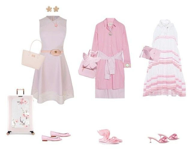 Baby pink dresses by cocodesign-1 on Polyvore featuring polyvore, fashion, style, Ted Baker, Maison Margiela, Lisa Marie Fernandez, Ancient Greek Sandals, Tory Burch, Miu Miu, Sophia Webster, Gucci, Colette Jewelry, Kate Spade, Van Cleef & Arpels, Aurélie Bidermann, Cartier and clothing