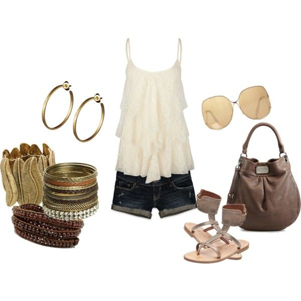 .: Fun Mystyl, Casual Summer, Style, Clothing Accessories, Summer Outfits, Fun My Styl, Polyvore Lov, Summer Fun, Bags