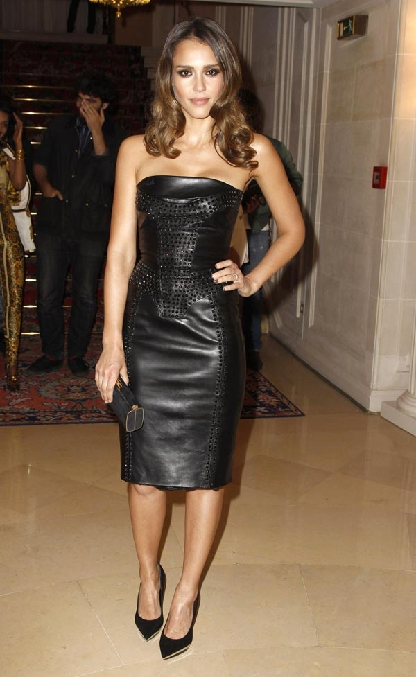 Jessica Alba at the Versace Fall/Winter 2012/2013 Fashion Show in Paris, France on July 1, 2012.
