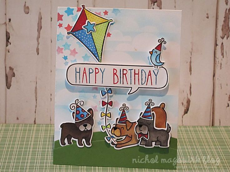 Cards Made With Lawn Fawn Critters In The Dog Park