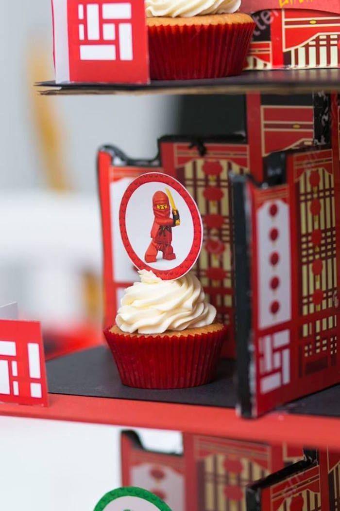 Cupcake from a Ninjago Lego Ninja Birthday Party on Kara's Party Ideas | KarasPartyIdeas.com (21)