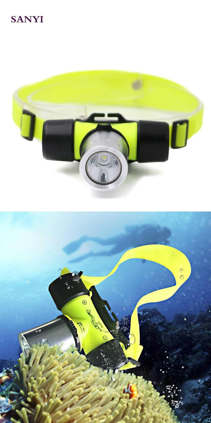[Visit to Buy] Underwater 20M Sanyi XML-T6 LED Headlamp 2000Lm Super Bright Torch Lamp Power By 3 * AAA or 1 * 18650 Battery Diving Head Light #Advertisement
