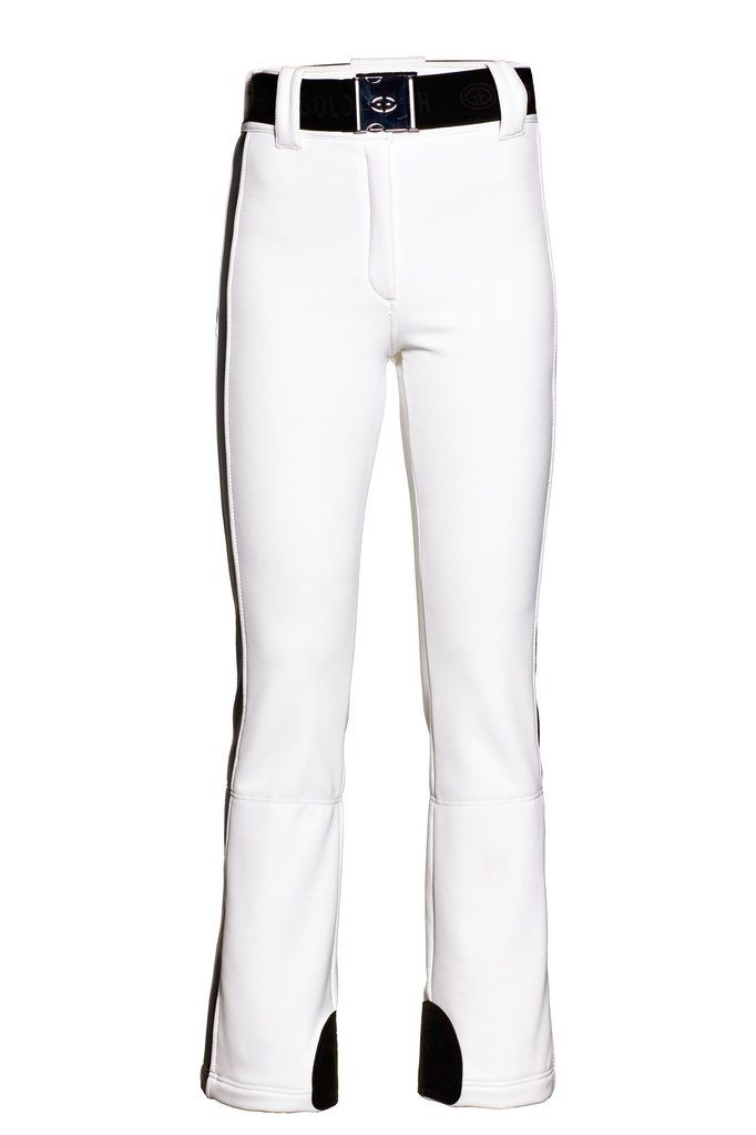 Goldbergh Paloma White Ski Pants in WB-400 Schoeller fabric