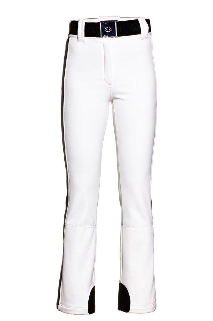 Goldbergh Paloma White Ski Pants in WB-400 Schoeller fabric