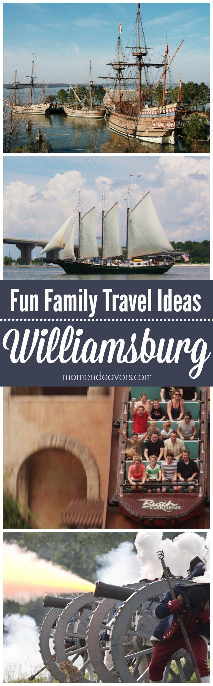 Fun Family Travel Ideas in Williamsburg, Virginia. Sponsored by Visit Williamsburg.