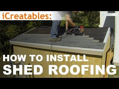 How To Build A Shed - Part 9 - Install Asphalt Shingles On Shed Roof - YouTube