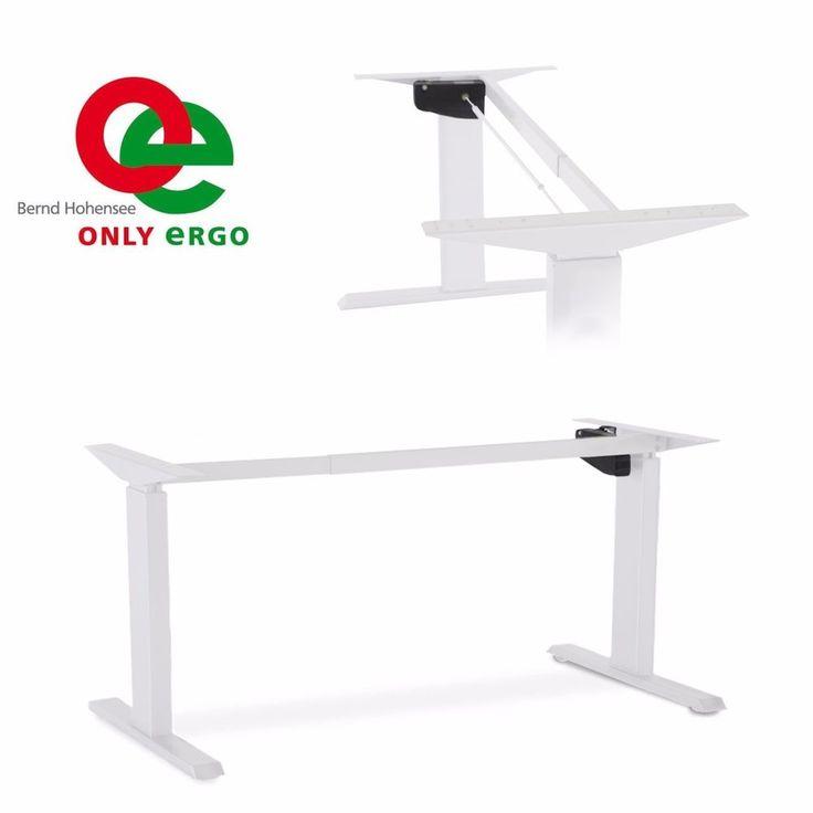 Tischgestell elektrisch stufenlos höhenverstellbar weiß in Büro & Schreibwaren, Büromöbel, Tische | eBay!