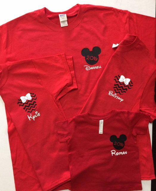 Four Matching Disney Family Shirts by CastingLogosDirect on Etsy