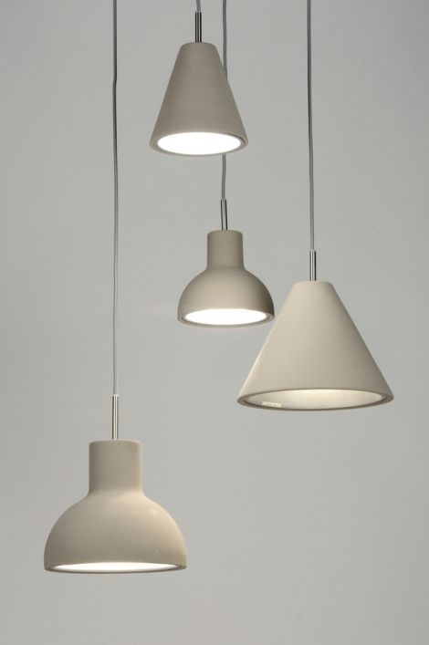 hanglamp 71967: modern, design, chroom, grijs, rond ...