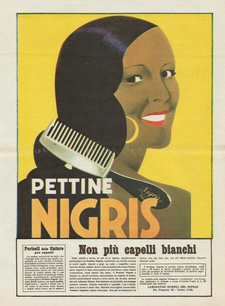 J0746 Pettine NIGRIS - Pubblicità d'epoca - 1933 Old advertising
