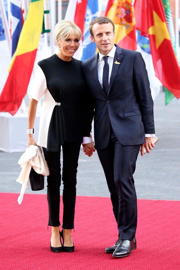 Emmanuel Macron et sa femme à l'Elbphilharmonie de Hamburg en Allemagne