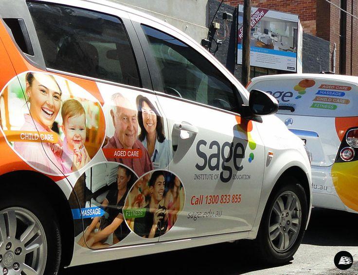Sage Institute #childcare #agedcare #fitness #massage #vehiclewrap #holdenbarina #hatchback #partialvehiclewrap #AutoSkin