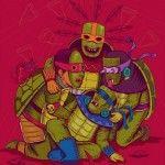 El artista mexicano demostró su influencia en un póster para Teenage Mutant Ninja Turtles (Las tortugas Ninja), el que realizó para Paramount Pictures