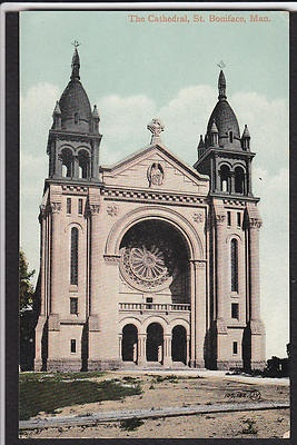 St. Boniface-Manitoba-Cathedral-Anique Postcard