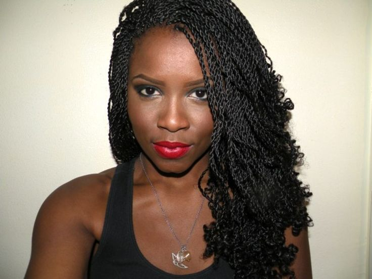 Those Pictures Of Senegalese Hairstyles Here Will Inspiring You After You See It All : Senegalese Twist Hairstyles For Black Women Simple Ombre Style , This Braid Will Good With Natural Wavy Or Curly Style