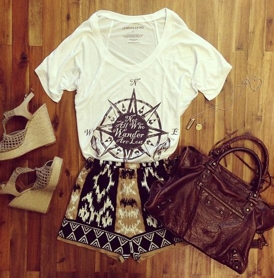 BLACK AND TAN TRIBAL SHORTS