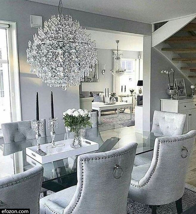 40 Charming Dining Room Decoration Ideas Image 3 Of 54 Dining Room Table Decor Luxury Dining Room Dining Room Cozy