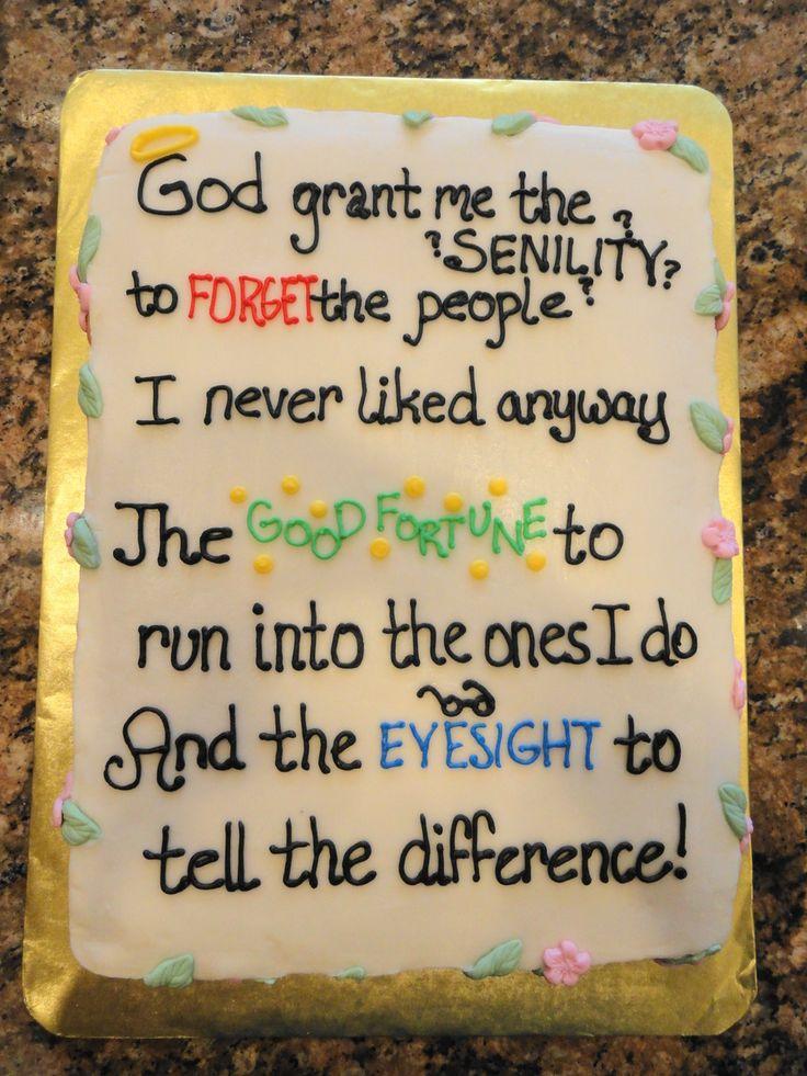 the Senility Prayer