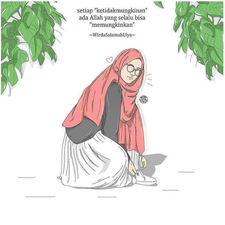. Follow @catatancintamuslimah Follow @catatancintamuslimah . .Setiap ketidakmungkinan ada Allah yang selalu bisa memungkinkan . WirdaSalamahUlya . @pamungkasragil_ .#vector #art #artwork #islam #wirda #quotes #hijrah #KartunMuslimah http://ift.tt/2f12zSN