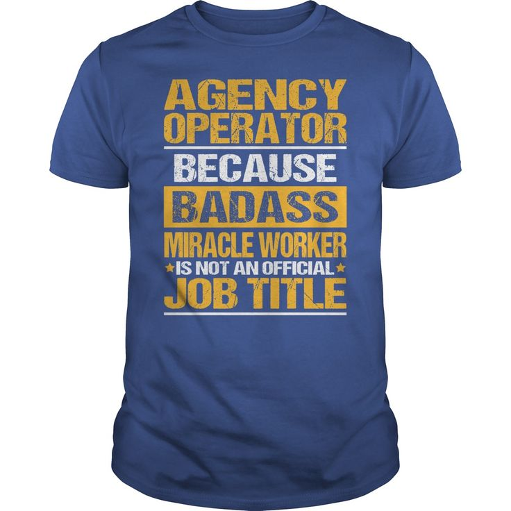 Awesome Tee For Ξ Agency Operator***How to ? 1. Select color 2. Click the ADD TO CART button 3. Select your Preferred Size Quantity and Color 4. CHECKOUT! If you want more awesome tees, you can use the SEARCH BOX and find your favorite !!Agency Operator