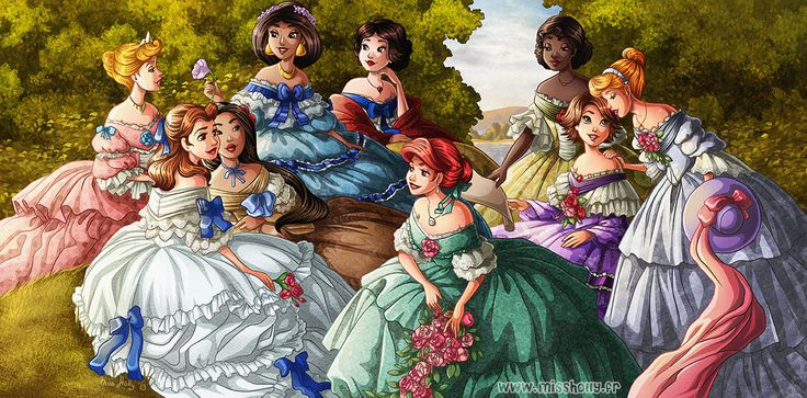 Such pretty princesses!  I always thought Ariel should've gotten green.