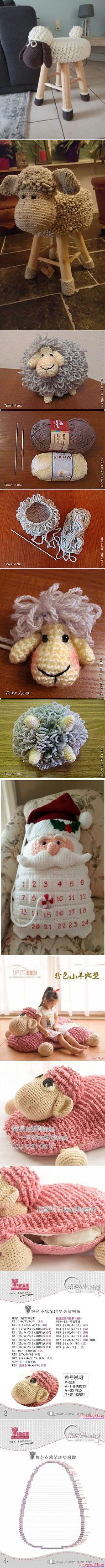 Овечка (подушка, матрасик) - Вязание для детей - Страна Мам #крючком | вязание Крючком | Страна, Для детей и Вязание