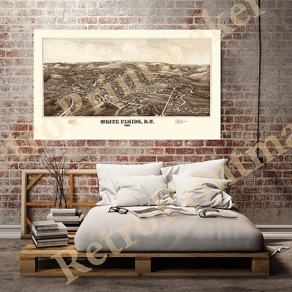 White Plains Westchester County New York N.Y. by RetroPrintmaker