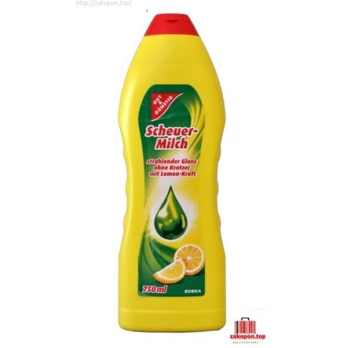 Крем для чистки G&G Mleczko 750 ml 36.00грн.   5 или более 35.00грн. 10 или более 33.00грн. 20 или более 32.00грн. Молоко для очистки удаляет грязь и жир со всех поверхностей эмали, керамика и хрома. Подходит для очистки как кухня так и ванной комнаты  Это очень эффективное средство , не поцарапает деликатных поверхностей, не оставляет пятен и отложений.  Он имеет очень приятный, нежный аромат.  Емкость: 750мл  С уважением Ваш ZAKUPON. TOP  +380993813704 c 9: 00 до 18: 00 zakupon.