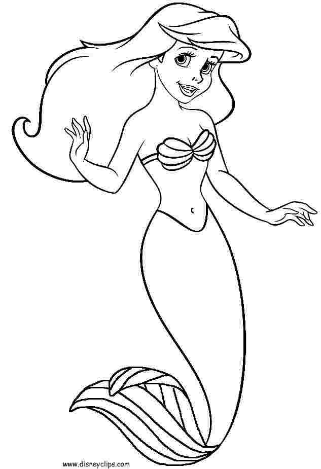 Ariel Coloring Pages For Kids Ariel Coloring Pages Mermaid Coloring Book Disney Coloring Pages