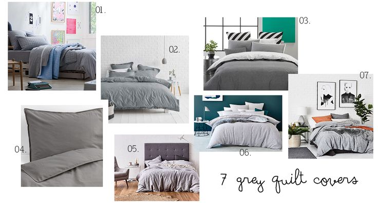 I recommend these 7 grey quilt covers