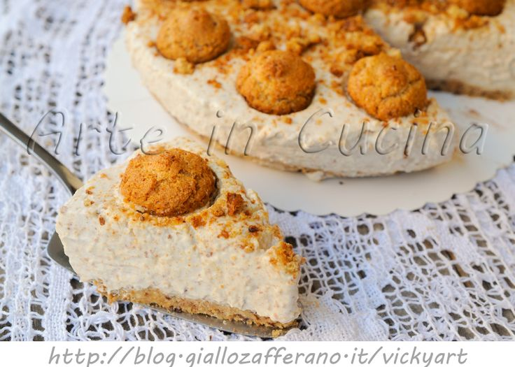 Cheesecake agli amaretti dolce freddo senza cottura, ricetta facile, veloce, ricetta fresca estiva, idea per la merenda, dolce della domenica, per ospiti all'improvviso