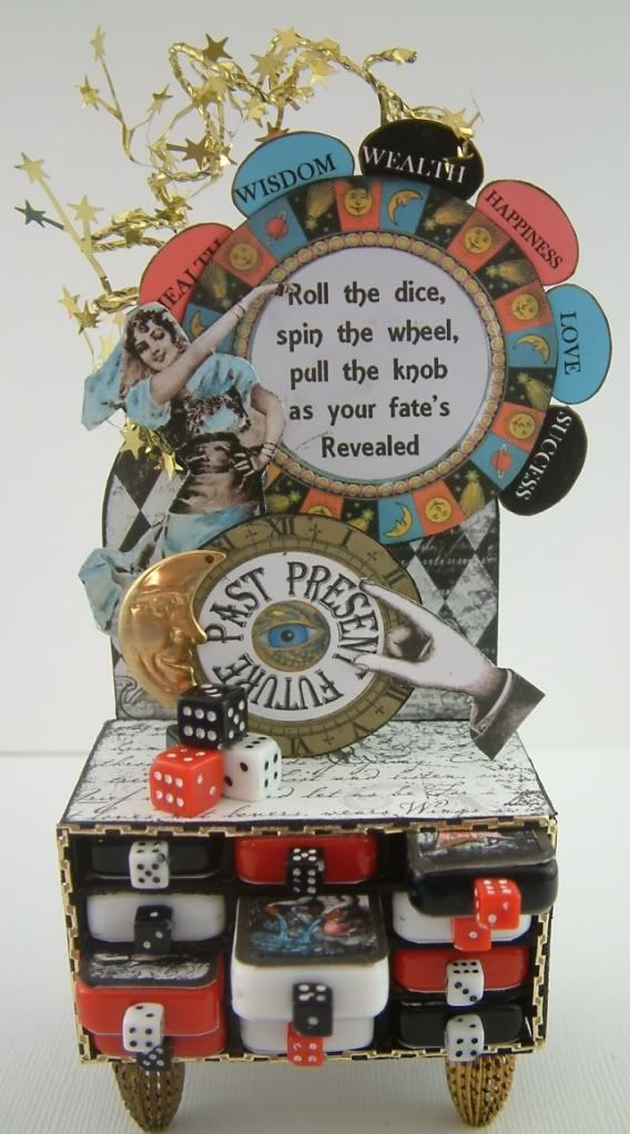 Artfully Musing: Fortune Telling Game Designed For Alpha Stamps... Aiming for something like this in 2015!!!