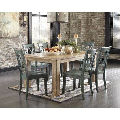 FREE SHIPPING! Shop Wayfair for Signature Design by Ashley Mestler Dining Table - Great Deals on all Furniture products with the best selection to choose from!-But with a darker finish on the table-