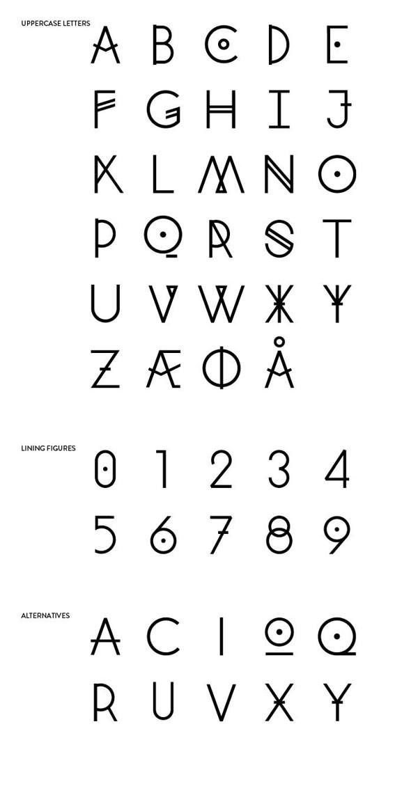 Runic Type by Mille Kruse Thomey Damgaard, via Behance