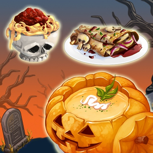 Yummmm...Halloween special dishes are here! #ChefVille