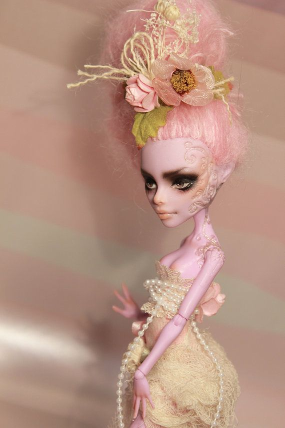 Custom ooak monster high operetta repaint reroot outfit on etsy