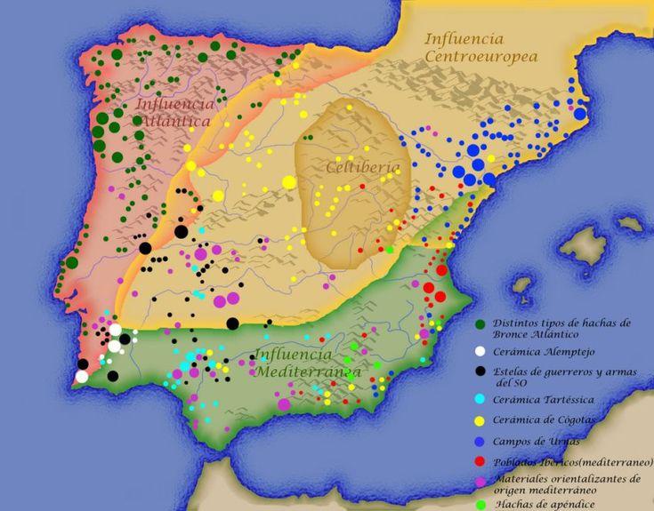 La Península Ibérica y sus 3 zonas de influencia: centroeuropea, atlántica y mediterránea