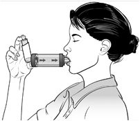 How to use a Metered Dose Inhaler Inhaled respiratory medications are often taken by using a device called a metered dose inhaler, or MDI. The MDI is a pressurized canister of medicine in a plastic holder with a mouthpiece. When it sprays, it gives a reliable, consistent dose of medication.