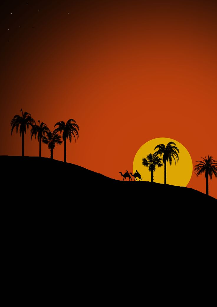 #referenced #firstry #palms #desert #camels #sunset #travel