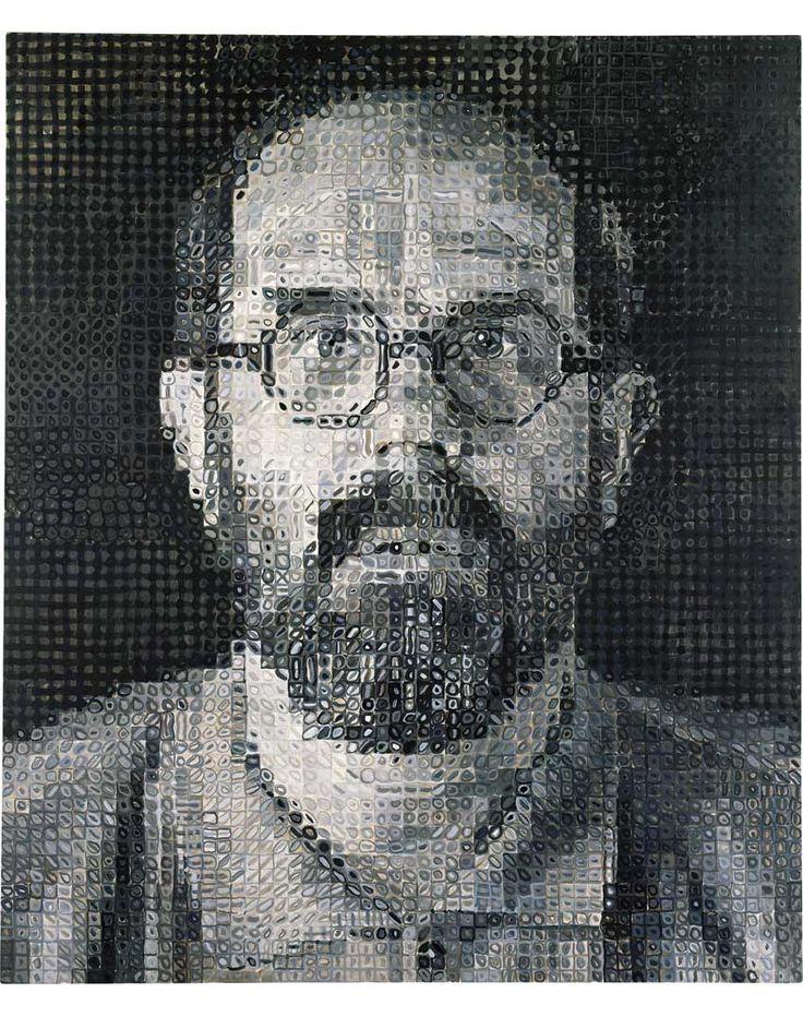 Chuck Close, Self-Portrait, 1993 oil on canvas 72 x 60 in. (182.9 x 152.4 cm)